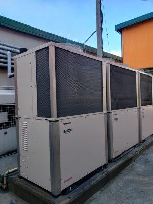 ガスヒートポンプエアコン室外機交換